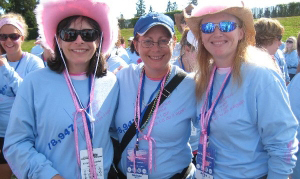 Pink Divas Walk to End Breast Cancer Team